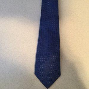 Nice Lauren Ralph Lauren Blue 100% Silk Tie